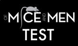 EDITABLE Of Mice & Men Test with Answer Key (100-question,