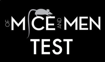 Of Mice & Men Test with Answer Key(100-question, Scantron)