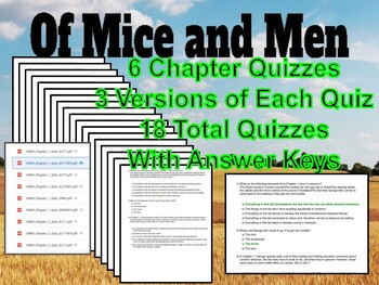 Of Mice and Men Assessment Growing Bundle & Informative Writing Lesson w/ Sample