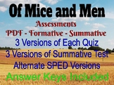 Of Mice and Men Assessments (Form and Sum) & Informative Essay Lesson w/ Sample