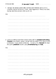 Of Mice and Men: 3 Lies and a Truth worksheet