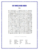 Of Mice and Men: 5 Story-Based Word Searches—Unique!