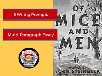 Of Mice and Men: 5 Writing Prompts