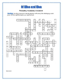 Of Mice and Men: 50-Word Prereading Crossword—Great Warm-Up for the Book!