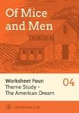 Of Mice and Men - American Dream Theme Study
