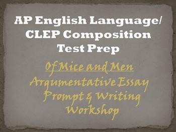 Of Mice and Men Argumentative Essay Workshop