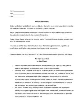Of Mice and Men Assessment (Teacher Copy)