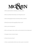 Of Mice and Men Background Inquiry