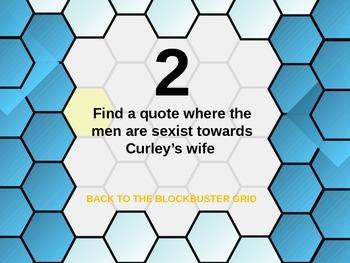 Of Mice and Men Blockbuster Quiz