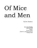 Of Mice and Men Ch. 1 Close Reading Packet