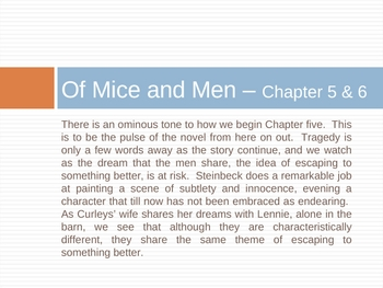 Of Mice and Men Ch. 5-6