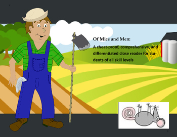 Of Mice and Men-Chapter 2 Differentiated Graphic Organizers