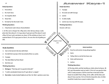 Of Mice and Men-Chapter 3 Differentiated Graphic Organizers