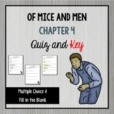 Of Mice and Men Chapter 4 Quiz and Key