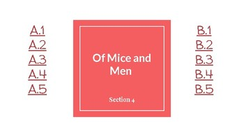 Of Mice and Men Chapter 4: Suggested Questions and Answers