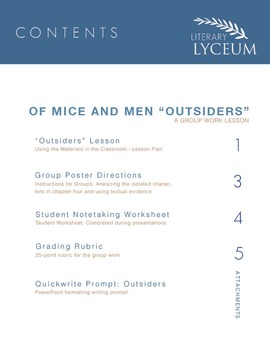 "Of Mice and Men Chapter Four ""Outsiders"" Analysis"