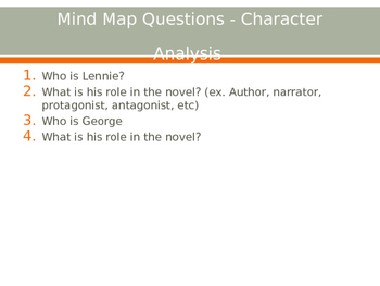 Of Mice and Men Chapter 1 Pre-Reading/Post-Reading PowerPoint