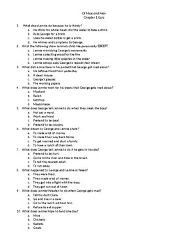 Of Mice and Men - Chapter Quizzes