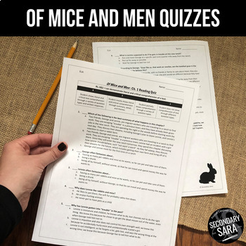 Of Mice and Men: Chapter Quizzes EDITABLE