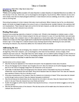 Of Mice and Men Character Analysis Research Paper – Graphic Organizer