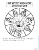 OF MICE AND MEN: CHARACTER WHEEL INTERACTIVE NOTEBOOK ACTIVITY