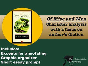 Of Mice and Men-Character analysis focus author's diction,denotation/connotation