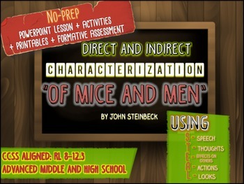 """""""Of Mice and Men"""" Characterization Bundle: No-Prep, PowerPoint, Printables"""