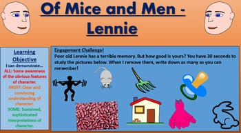 Of Mice and Men: Characterization of Lennie