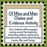 Of Mice and Men: Claims and Evidence Activity for CH 1-3