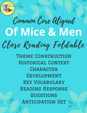 Of Mice and Men Close Read Foldable