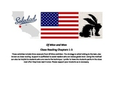 Of Mice and Men Close Reading Ch. 1 Ch. 2 Ch. 3 Guided Notes