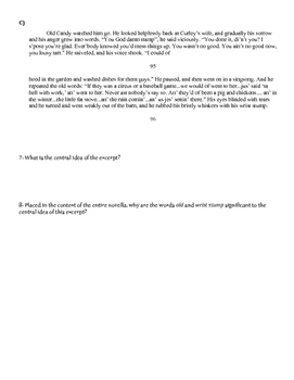 Of Mice and Men: Close Reading Lesson for Chapter 5 (Day 2)
