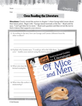 Of Mice and Men Close Reading and Text-Dependent Questions