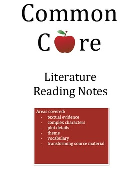 Of Mice and Men Common Core Aligned Reading Notes
