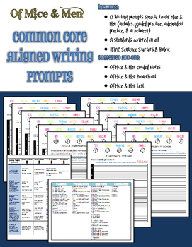 13 Of Mice and Men Common Core Aligned Writing Prompts