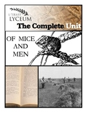 Of Mice and Men Complete Unit Bundle