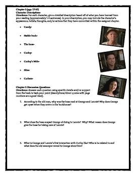 Of Mice and Men- Comprehensive Discussion Questions Bundle
