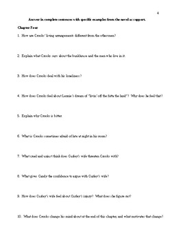 Of Mice and Men - Comprehensive Study Guide Packet - CCSS Aligned