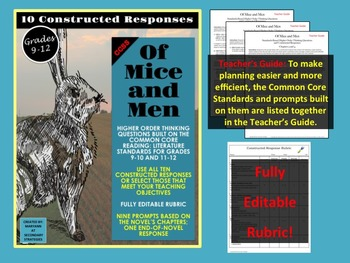 Of Mice and Men Constructed Responses and Higher Order Thinking Questions