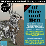Of Mice and Men Constructed Responses and Higher Order Thi