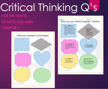 Of Mice and Men Critical Thinking Chapter 1