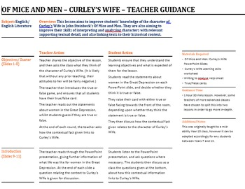 Of Mice and Men: Curley's Wife