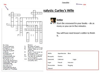 Of Mice and Men Curly's wife analysis
