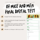 Of Mice and Men DIGITAL Final Test