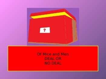 Of Mice and Men Deal or No Deal