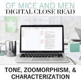Digital Close Reading Of Mice and Men