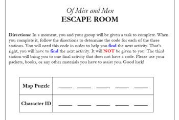 Of Mice and Men Escape Room