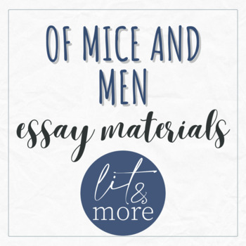 Of Mice And Men Essay Materials  Analyzes Foreshadowing In Novel  Write Your Own Story Online also Thesis For Compare And Contrast Essay  Process Essay Thesis