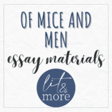 Of Mice and Men Essay Materials