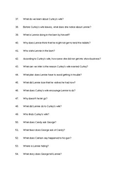 Of Mice and Men Film Questions